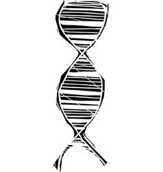 Woodcut dna helix vector