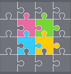 background from puzzles vector image vector image
