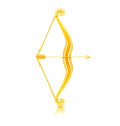 bow with arrow vector image vector image