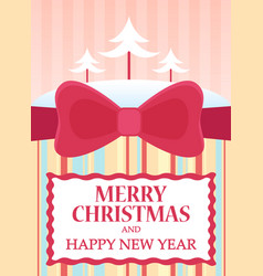 flat of merry christmas and vector image vector image