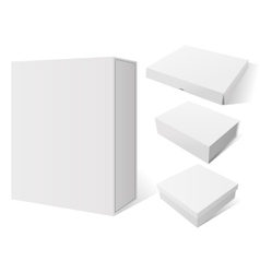 Realistic Set white Package Mockup Box vector image vector image