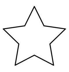 Star decorative isolated icon vector