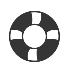 black and white float graphic vector image