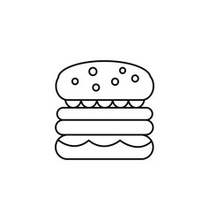 burger sign line icon sign vector image vector image
