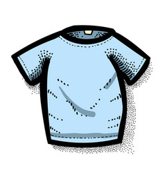 cartoon image of shirt icon t-shirt symbol vector image