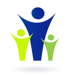 family and community icon vector image