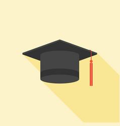 graduation cap icon flat design vector image vector image