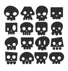 Set of skull heads vector image