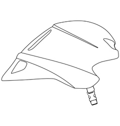 Time trial cycle helmet vector image