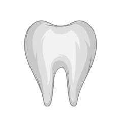 Tooth icon black monochrome style vector image