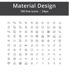 ui mobile line icons vector image
