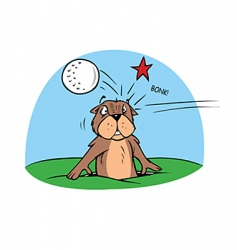 golf gopher vector image