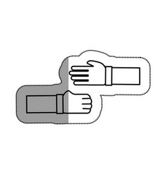 hands human deal icon vector image
