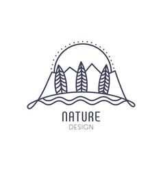 Logo mountain outline vector