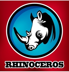 Rhinoceros for sport teams vector image
