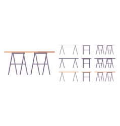 table furniture set vector image vector image