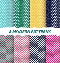 8 modern patterns background vector image vector image