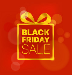 black friday sale concept golden logo on red vector image vector image