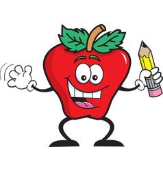 Cartoon Apple Student vector image vector image