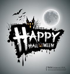 Happy Halloween message design vector image vector image
