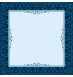 square blue background with decorative ornate vector image