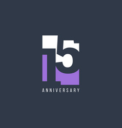 15 th anniversary celebration template design vector