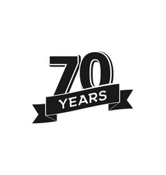 70 years anniversary logotype isolated vector