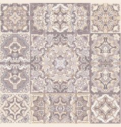 a collection of ceramic tiles in brown retro vector image