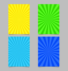 abstract colored ray burst pattern brochure vector image