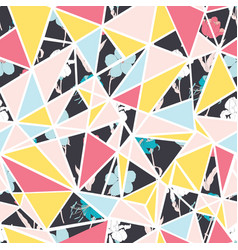 abstract floral triangles seamless repeat vector image