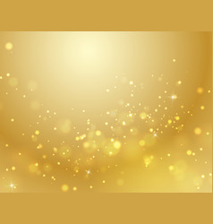 Abstract gold bokeh background light effect vector
