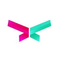 abstract modern design logo vector image