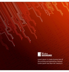 Abstract red lights background vector