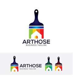 Art house logo design vector