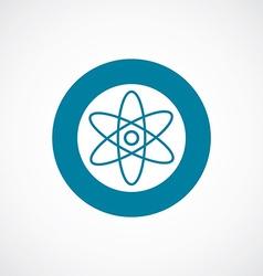 atom icon bold blue circle border vector image