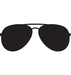 Aviator sunglasses color vector