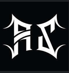 Az logo monogram with abstract shape design vector
