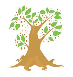 big tree icon cartoon style vector image