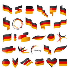 Biggest collection of flag of Germany vector