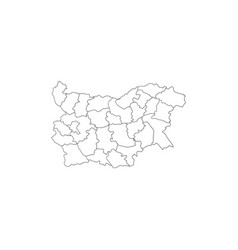 bulgarian map with regions vector image