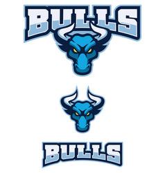 Bull sport mascot vector
