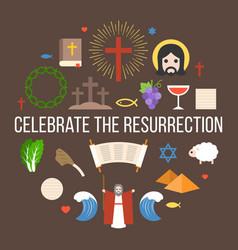 Celebrate resurrection jesus vector