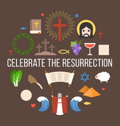 Celebrate the resurrection of jesus vector