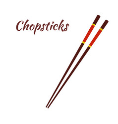 chopsticks for asian food japanese noodles vector image
