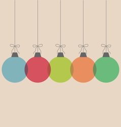 Christmas balls isolated on beige vector