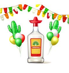 cinco de mayo tequila bunting balloon vector image