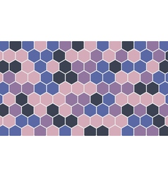 Colorful hexagonal geometric background vector image