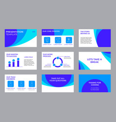Company investment presentation pitch deck vector