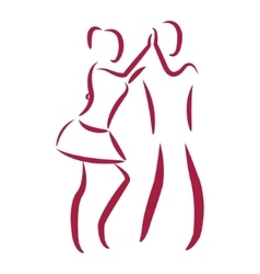 Couple dancing salsa vector image