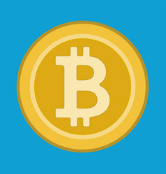 crypto currency symbol flat vector image